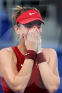 TOKIO 2020 OLY - Belinda Bencic reagiert nach ihrem Sieg im Halbfinale des Dameneinzel-Tennis