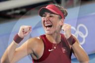 TOKIO 2020 OLY - Tennis: Belinda Bencic holt Gold im Tennis-Einzel