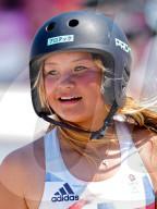 TOKIO 2020 OLY - Die 13-jährige Britin Sky Brown gewinnt Bronzemedaille im Park-Skateboarding-Finale der Frauen
