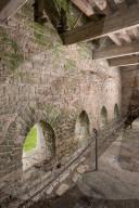 FEATURE - Folgen des erlaubten Fleischkonsums: Der Toilettenblock des im 14. Jahrhundert gebauten Klosters Muchelney in Langport