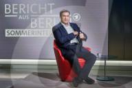 NEWS - Wahl Deutschland: Markus Söder (CSU) im ARD Sommerinterview in Berlin