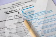 NEWS - Stimmzettel der Bundestagswahl zum 20. Deutschen Bundestag am 26. September