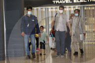NEWS - USA: Ankunft afghanischer Flüchtlinge am internationalen Flughafen Dulles