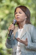 NEWS - Wahlveranstaltung der Gruennen mit Kanzlerkandidatin Annalena Baerbock in Rostock