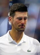 TENNIS - Novak Djokovic kämpft nach Finalniederlage am US Open mit den Tränen