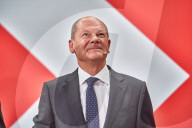NEWS - Bundestagswahl 2021: Olf Scholz am Wahlabend