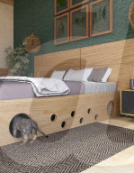 FEATURE -  Das Bett für Katzenliebhaber versteckt ein Katzenlabyrinth