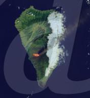 NEWS - Satellitenbild zeigt Lava auf La Palma