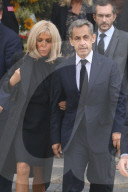 PEOPLE - Trauerfeier für Bernard Tapie in Paris