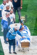 PEOPLE - Ehrung für Bernard Tapie im Velodrome-Stadion in Marseille