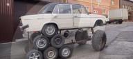 FEATURE - Altes Lada-Auto wird zum 14-Rad-Monster