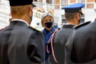 ROYALS - Prinzessin Caroline und Albert von Monaco bei der Übergabe des Kommandos der Feuerwehr von Monaco