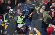 NEWS - Fussball: Ungarischer Fan wehrt sich gegen Festnahme im Wembley-Stadion