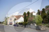 FEATURE -  Für 1 Million zu Haben: Ein Haus mit phallischen Formschnittbäumen im Garten im britischen Dörfchen Cross steht zum Verkauf
