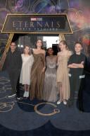 PEOPLE - Angelina Jolie bringt die Kinder Maddox, Zahara, Shiloh, Vivienne und Knox zur Eternals-Premiere mit
